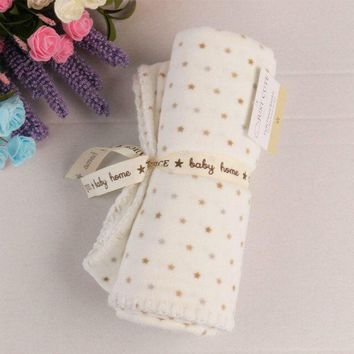 2 layers short plush baby blanket newborn stroller quilt Super Soft baby nap receiving blanket star sabanas bebe swaddle blanket