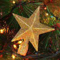 4 Colors Choose Glitter Star Christmas Tree Topper Decoration Christmas CCC