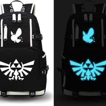 2017 Fashion The Legend of Zelda Backpack Cosplay Canvas Bag Luminous Schoolbag Travel Bags Anime