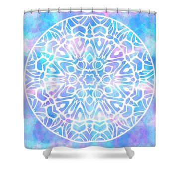 Tie Dye Mandala 2 Shower Curtain