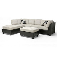 Mancini Modern Sectional Sofa and Ottoman Set at Brookstone—Buy Now!