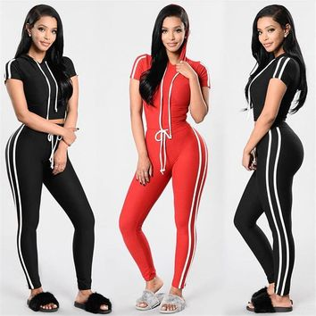 Aracely 2-pc Top + Jogging Pants Workout Yoga Fitness Activewear Set