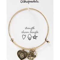 Aeropostale Womens Strength Charm Bangle - Yellow, One