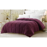 Super Oversized- Dark Maroon Down Alternative Comforter in King Size