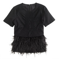 J.Crew Womens Collection Deco Feather Top