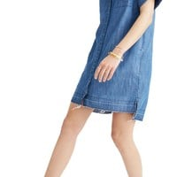 Madewell Raw Edge Denim Shirtdress | Nordstrom