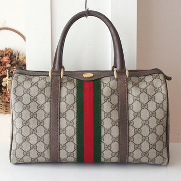 Gucci Bag Vintage Monogram Boston tote handbag purse