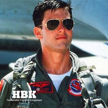 HBK Army MILITARY MacArthur Aviation Style AO General Pilot American Optical Glass Lens Men Sun Glasses Oculos De Sol K40024