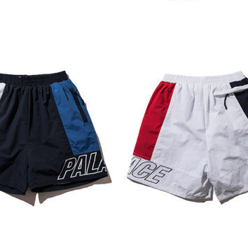 Sports Patchwork Permeable Casual Pants Shorts [10710158919]