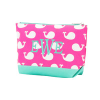 Pink Whale Cosmetic Bag/Accessory Bag