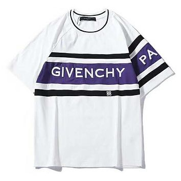 GIVENCHY Trending Women Men Stylish Print T-Shirt Top Tee Blouse White