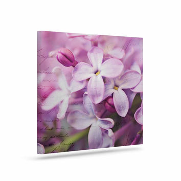 """Sylvia Cook """"French Lilacs"""" Purple Photography Canvas Art"""