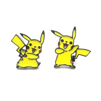 Pikachu Shaped Nintendo Pokémon Themed Stud Earrings | DOTOLY