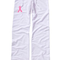 Breast Cancer Awareness Loung Pants, Pink Ribbon Sweatpants