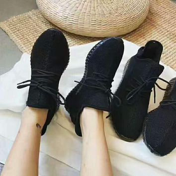 Yeezy Adidas Women Boost Sneakers Running Sports Shoes pure black H-AGG-CZDL