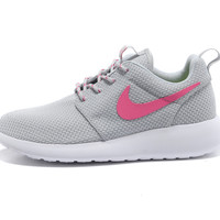 $93.98 discount to $46.99 for Light Gray Pink Nike Roshe Run Women's Shoes [Discount Shoes Half off 2298] - $46.99 : Buy Shoes Half off Online -Nike Free,Tiffany Blue Nikes, Nike Air Max, Womens Nike Running Shoes, Popular Shoes 2014