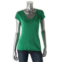 INC Womens Petites Cotton V-Neck Casual Top