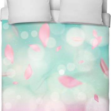 ROB Minty Leaves Duvet Cover
