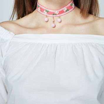 Wednesday Pink Mood Chokers Set