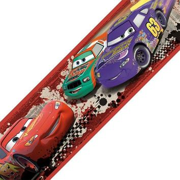 Disney Cars Piston Cup Racing Self-Stick Wall Border Roll