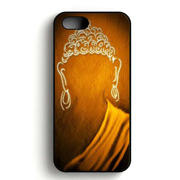 Buddha Painting Light iPhone 5, iPhone 5s and iPhone 5S Gold case