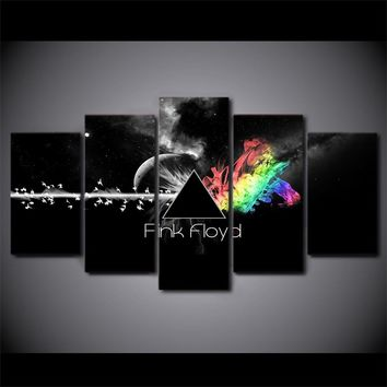 Pink Floyd 5 piece wall panel wall art canvas