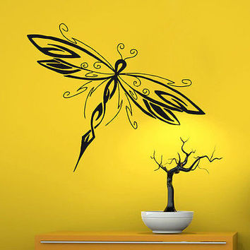 Wall Decals Dragonfly Insect Fly Decal Bedroom Art Vinyl Sticker Decor DA2196