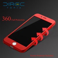 DIRECTopia Ultra Thin 360 full for iphone 7 case + Tempered Glass Screen Protector for iPhone 6 7 5s plus case Full Body Cover