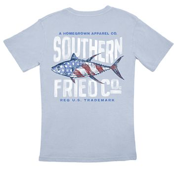 Red, White, & Tuna Tee by Southern Fired Cotton