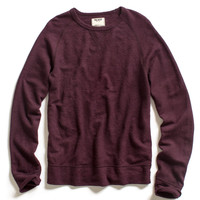 Purple Wool Rib Sweatshirt