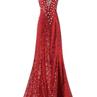 Bridal Women's Sequined Prom Banquet Evening Dresses Long CL6102