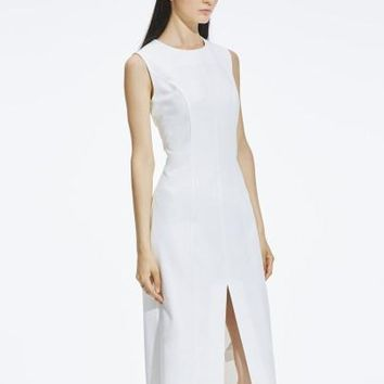 Sleeveless White Women's Sheath Dress