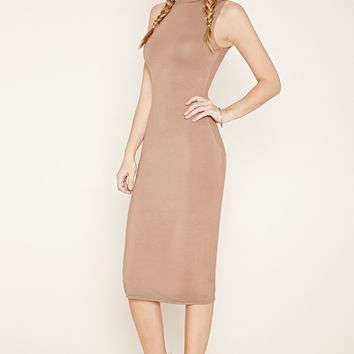 Mock Neck Midi Dress | Forever 21 - 2000160463
