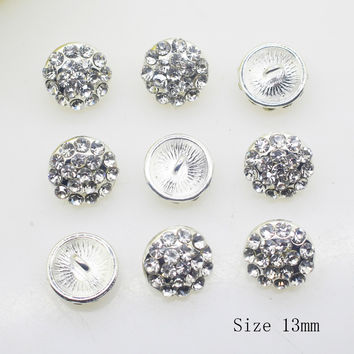 NEW 10PCS/LOT 13MM Round Deacorative buttons DIY Ribbon  Invitation Alloy bra button Shirt  Accessory Free shippng