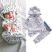 Newborn Baby Girls Boys Clothing Set Tops T-shirt Cotton Long Pants Casual Clothes 2pcs Outfits new Dot Set 0-24 M