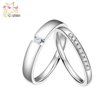 Coltish Wedding Band Marriage Couples Promise Rings Men and Women Classic Handmade Jewellery Accessory
