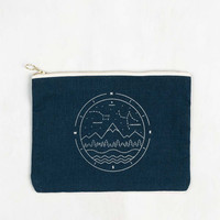 Northern Nights Canvas Pouch