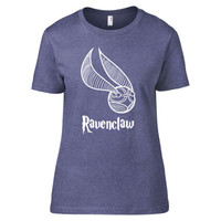 Harry Potter Inspired Clothing - Ravenclaw Snitch Heathered Crew Neck - Ladies