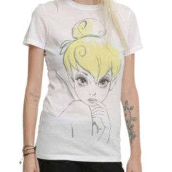 Disney Peter Pan Tinker Bell Watercolor Girls T-Shirt