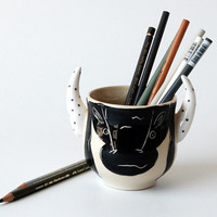 Pencil Holder / Desk Organizer / Office Decor / Desk Accessory / Office organization