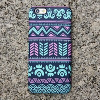 Turquoise Aztec Tribal iPhone 6s Case | iPhone 6 plus Case | iPhone 5 Case | Galaxy Case 3D 034