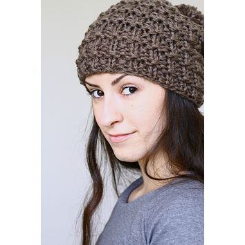 Mica Hat -  knitting pattern, knitting tutorial for a knit beanie hat in English