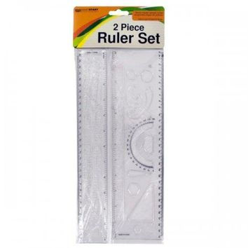 Alphabet & Number Stencil Ruler Set