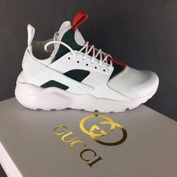 Best Online Sale Gucci x Nike Air Huarache 4 Men Women Mesh Hurache Sport Running Shoes  Casual Shoes Sneakers 819685-103