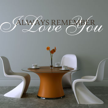 I Love You  Master Bedroom Wall Decal - Vinyl Wall Quote Decals - Wedding Gift Decal - Vinyl Lettering - Love Quote Decals - Wedding Quotes