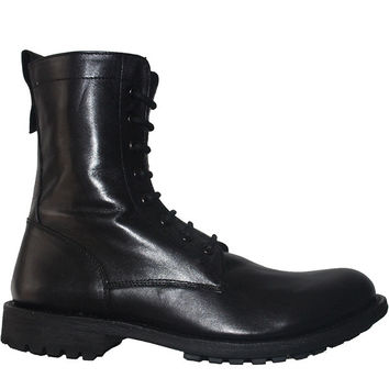 Kixters Spencer - Antique Black Leather Combat Boot