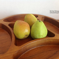 Vintage Large Dansk Teak Divided Tray
