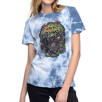 Obey Space And Time Blue Tie Dye T-Shirt