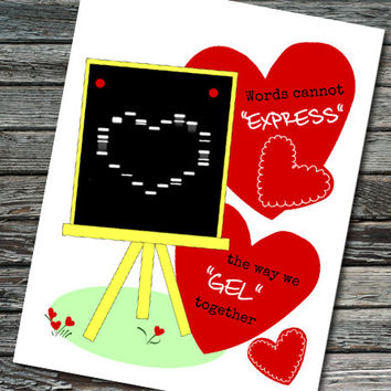Gel Electrophoresis Valentine's Day Card / Anniversary / Love Card | Student, Teacher, Professor, Scientist, Molecular Biologist | PCR