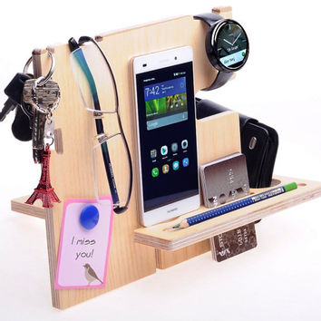 Anniversary Gifts for Men, Gift For Dad, iPhone Docking Station, Mens Gift, Birthday Gifts For Him, Boyfriend Gifts
